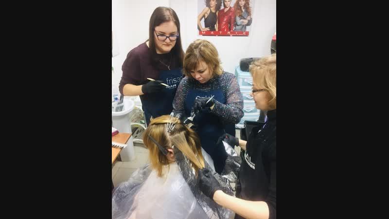 Курсы парикмахер-универсал, сложное окрашивание