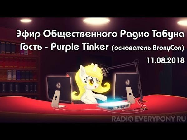 Эфир Общественного Радио Табуна 11.08.2018. Гость - Purple Tinker (основатель BronyCon)