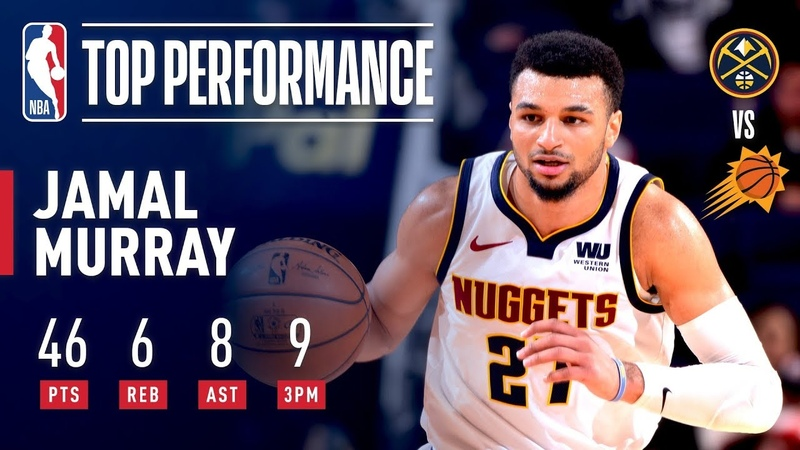 Jamal Murray Goes Off For 46 Points In Phoenix December 29 2018