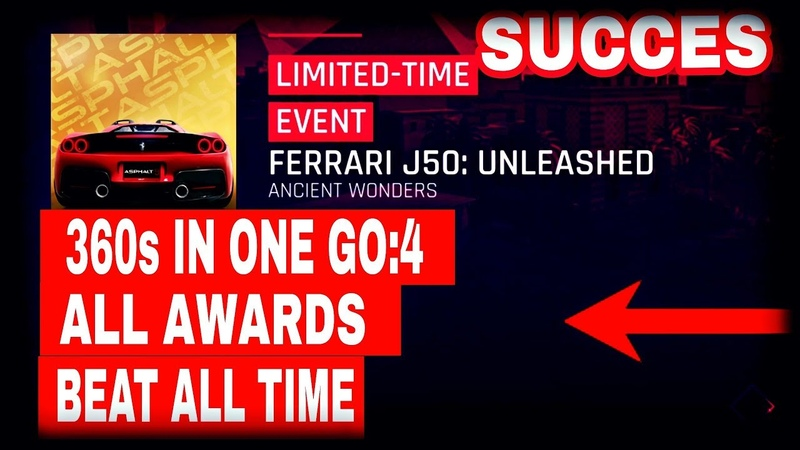 Asphalt 9 - FERRARİ J50 : UNLEASHED : ALL BEAT TIMES AND 360s IN ONE GO:4