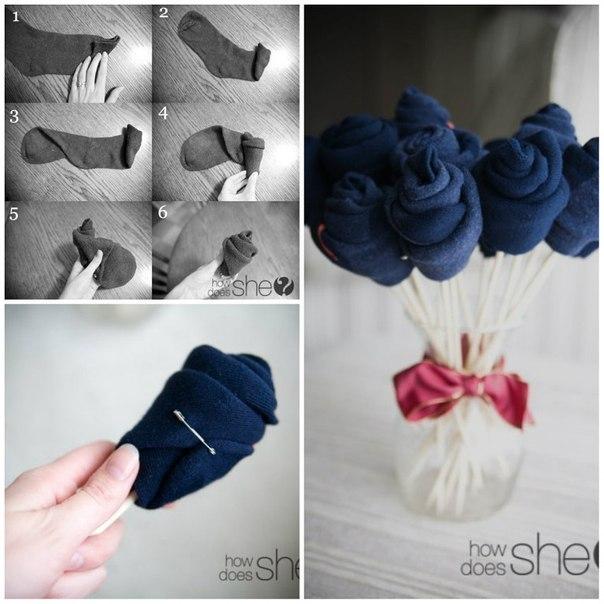 Букеты из носков для мужчин своими руками