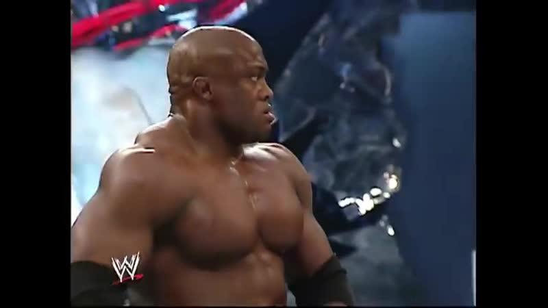 Bobby Lashley Vs Randy Orton Mr Kennedy - 2 On 1 Handicap Table Match - SmackDown 23.03.2007