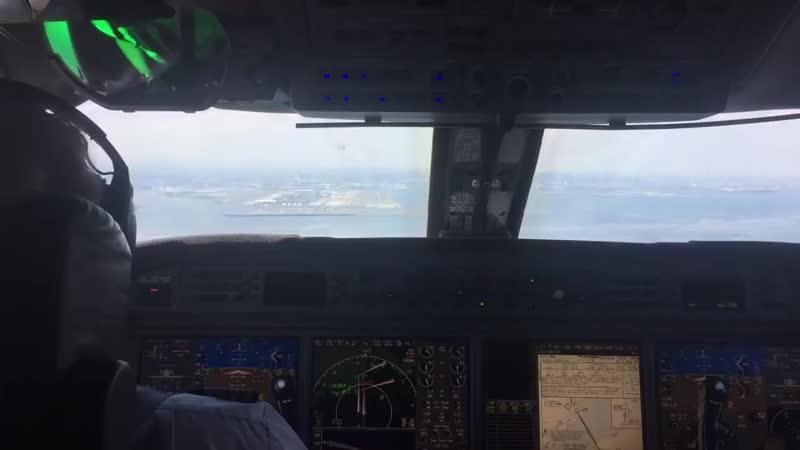 Tokyo Haneda Landing - Cockpit - Pilots-eye view.
