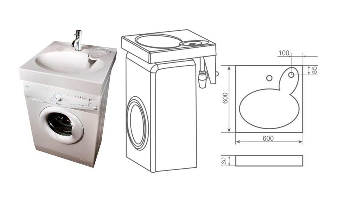 раковины в размер стиральной машины