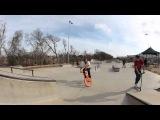 Empire Bmx Aaron Ross at a Texas cement park