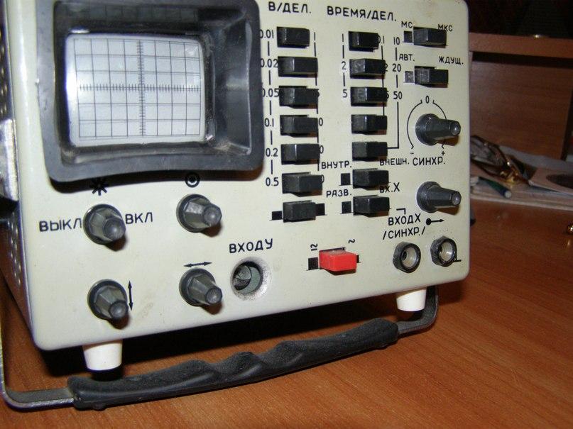 с осциллографом ОМЛ-2М