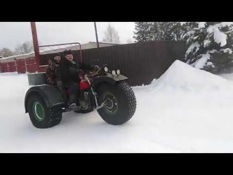 ЗиД Бархан на пневмо колёсах по снегу