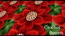 Como hacer Flores Nochebuena en 3D a Crochet paso a paso con hojas tejido tallermanualperu