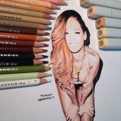 Невероятно реалистичные рисунки, созданные цветными карандашами