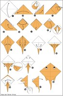Origami Devil Fish Tutorial PaperCraftSquare.com.
