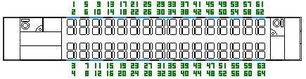 Схема расположения мест в вагоне сидячем