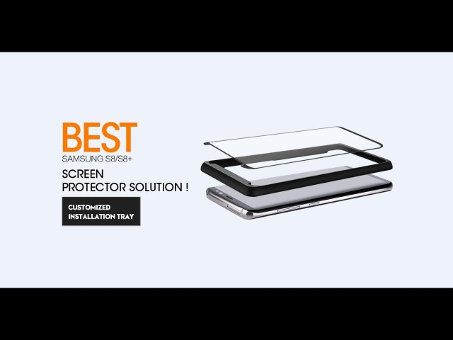 REVIEWS OF Best Samsung S8/S8 Screen Protector Solution! Customized Installation Tray