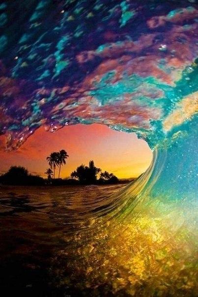 Радужная волна, Гавайи, США