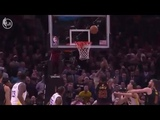 LeBron James ALLEY OOP HIMSELF DUNK Game 3 Warriors vs Cavaliers 2018 NBA FINALS