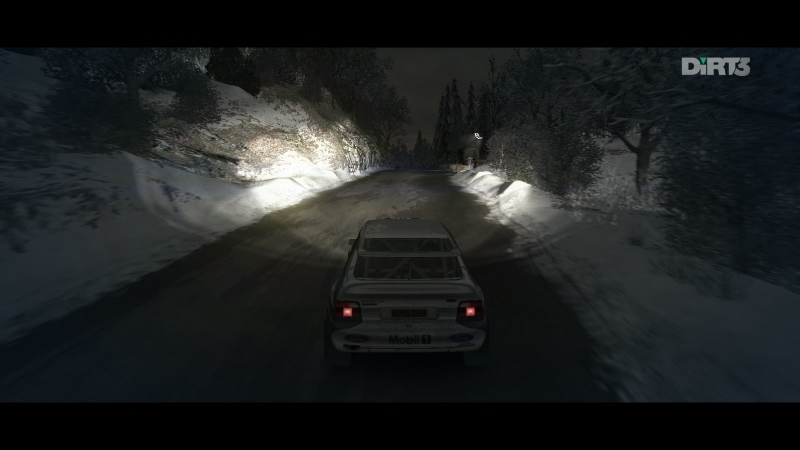 Dirt 3 gameplay - Route des anges. Ford Escort RS Cosworth Group A crash.