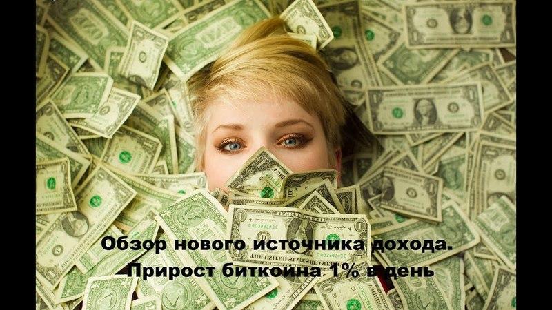 Новый источник дохода Прирост биткоин Подключение робота к бирже
