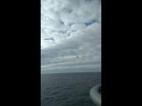 Полет российского Су-27 около украинских кораблей