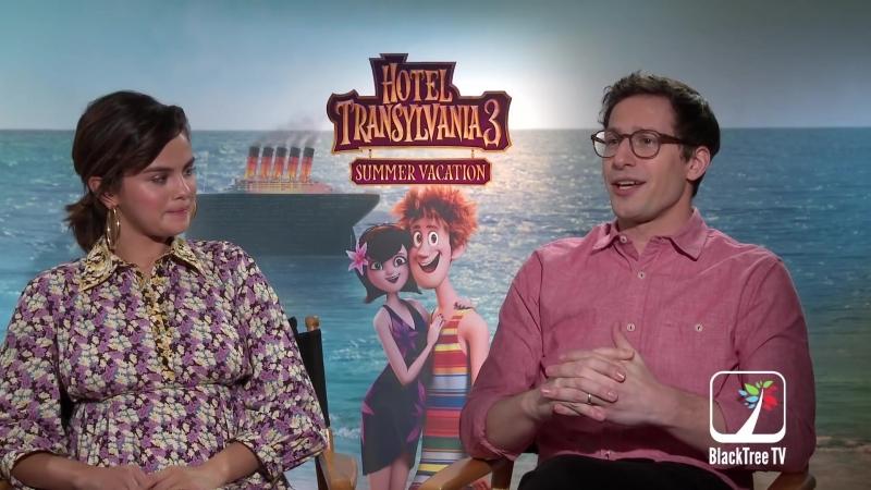 Интервью в рамках промоушена анимационного фильма «Монстры на каникулах 3» для «BlackTree TV», Западный Голливуд (28 июня 2018)