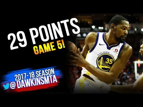 Kevin Durant Full Highlights 2018 WCF GM5 Golden State Warriors vs Rockets - 29 Pts   FreeDawkins