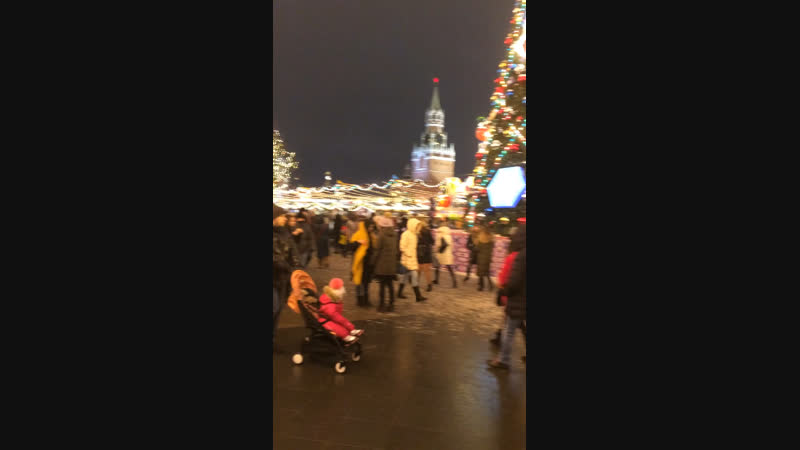 Предновогодняя Москва Красная площадь