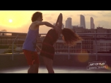 Zouk demo on the roof _ Alex Ksenia Paska-Salazkini _ Art of Play school