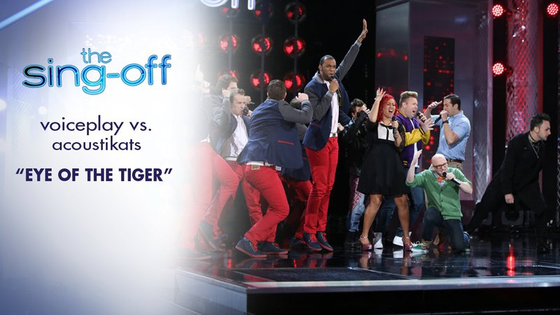 VOICEPLAY vs ACOUSTIKATS - Eye of the Tiger ( THE SING OFF season 4 episode 5)