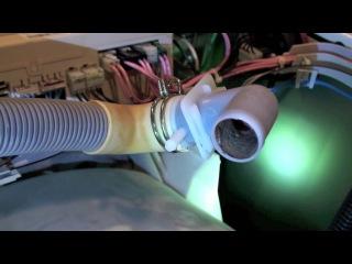 Чистка шланга слива воды в стиральной машине