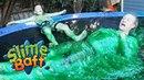 ТРЮКИ НА БАТУТЕ С ЛИЗУНОМ! Slime Trampoline! with Rocco Piazza