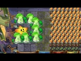 Plants vs Zombies 2 Battlez - Starfruit and Bonk Choy vs 999 Zombies