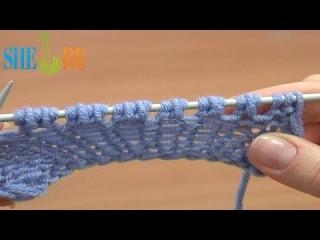 Способы прибавления петель Урок 8 способ 10 из 14 Вяжем спицами