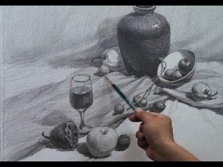 Still Life Drawing in Graphite pencil