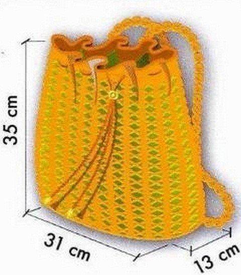 Delicadezas en crochet Gabriela: Mochila tejida en crochet con moldes