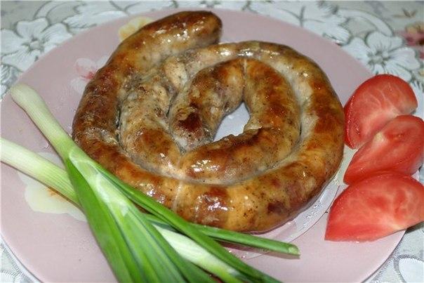 Домашние колбаски в духовке рецепт с фото