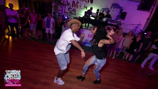 Yoandi and Yanet burning up the floor at the Croatian Summer Salsa Festival