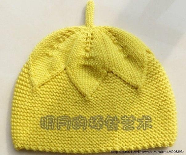 Детская шапулька- спицами (3 фото) - картинка