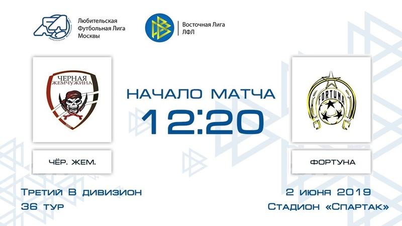 Чёрная жемчужина 4:1 Фортуна   Третий дивизион В 2018-19   36-й тур   Обзор матча