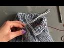 Как невидимо спрятать конец нити после закрытия петель при круговом вязании