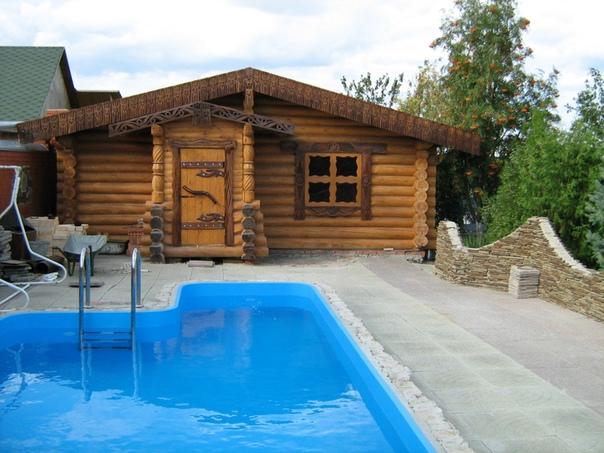 Вот это банька с бассейном! (источник: gofazenda)