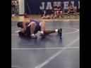 Wrestling ref slides across floor