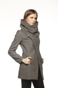 Grey Wool Coat Women