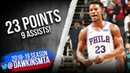 Jimmy Butler Full Highlights 2019.03.19 76ers vs Hornets - 23 Pts, 9 Assists! | FreeDawkins
