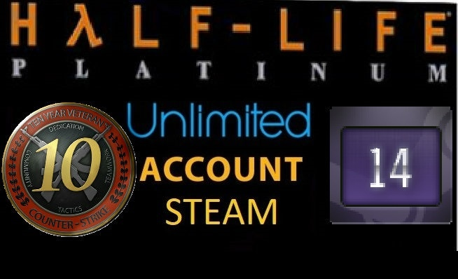 7 dig Unlimited 2004year 14 Years of Service 10LVL + Half-Life Platinum Pack + OE