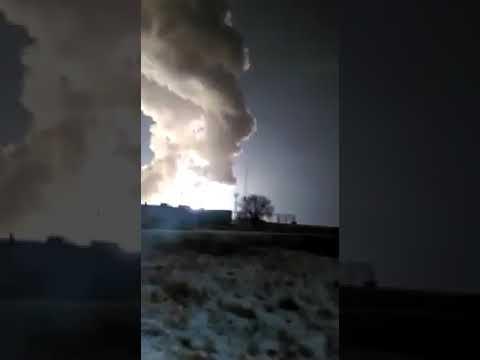 Падение ракеты на полигоне Капустин Яр