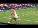 Wimbledon 2013 Day One Highlights: Maria Sharapova v Kristin Mladenovic