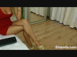 Дама со стройными ножками в красном платье, woman mom chat web love leg hip girl tits video boy ass butt (hot & horny woman)