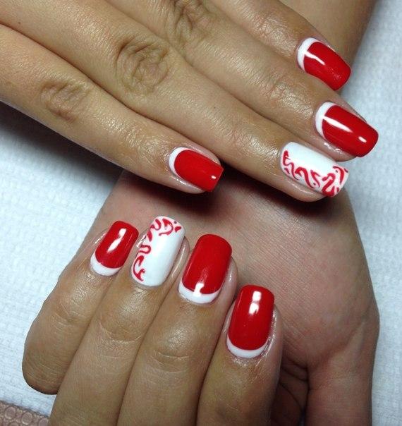 Красный шеллак дизайн фото ногтей лучшие работы