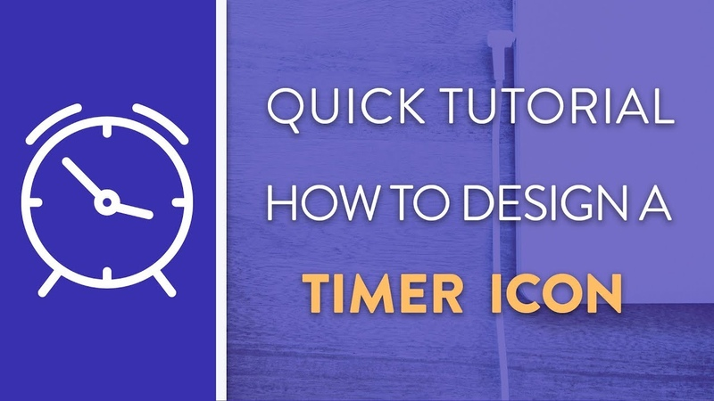 DAY 7 : How To Design A Timer Icon in Illustrator   Icon Design Week