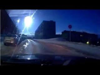 Метеорит над Мурманском 19 04 2014 Meteorite over Murmansk