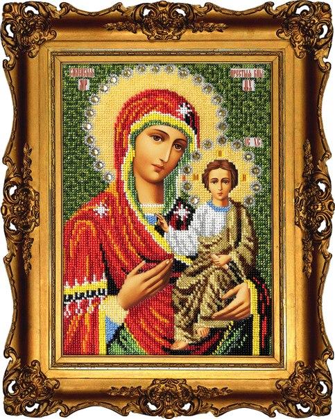 Вышиваем бисером (Россия) Смоленская Икона Божией Матери.