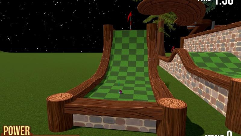 Golf With Your Friends - Standing wood - Stojící dřevo